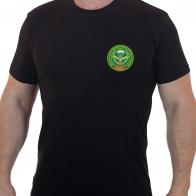 Хлопковая футболка  с вышитым шевроном ДШМГ ПВ