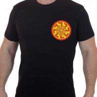Хлопковая футболка  с вышивкой Светоч