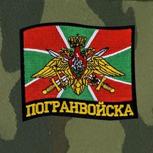 Хлопковая милитари кепка с шевроном Погранвойск