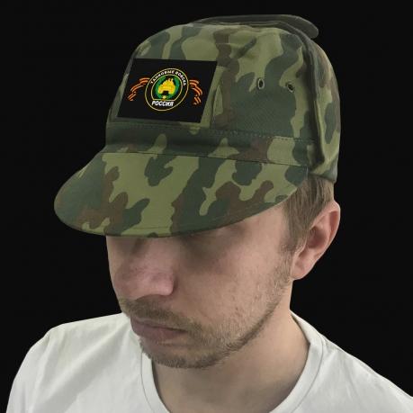 Хлопковая кепка камуфляж с шевроном Танковых войск.