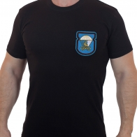 Хлопковая мужская футболка с вышитым знаком Батальон связи 98 ВДД ВДВ - купить оптом и в розницу