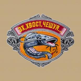 Хлопковая оригинальная футболка-поло с рыбацкой вышивкой