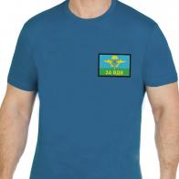 Хлопковая оригинальная футболка  с вышивкой ЗА ВДВ