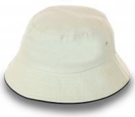 Хлопковая панама белого цвета. Прочные люверсы, качественный пошив