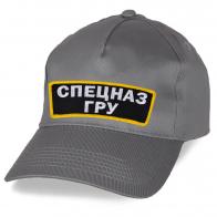 Хлопковая серая кепка Спецназ ГРУ