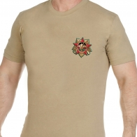 Хлопковая светлая футболка Афган