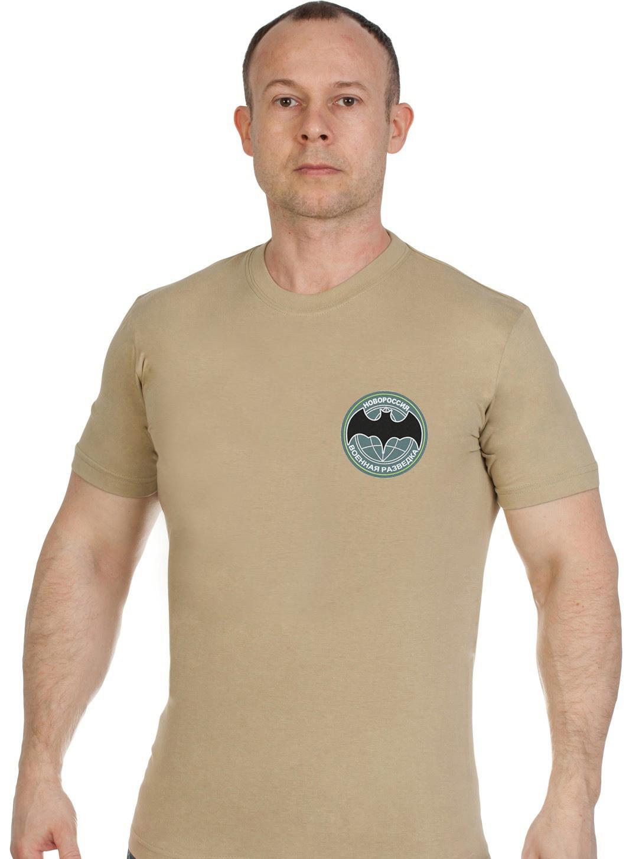 Купить хлопковую светлую футболку с вышивкой Военная Разведка Новороссии с доставкой выгодно