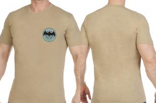 Хлопковая светлая футболка с вышивкой Военная Разведка Новороссии - купить по низкой цене