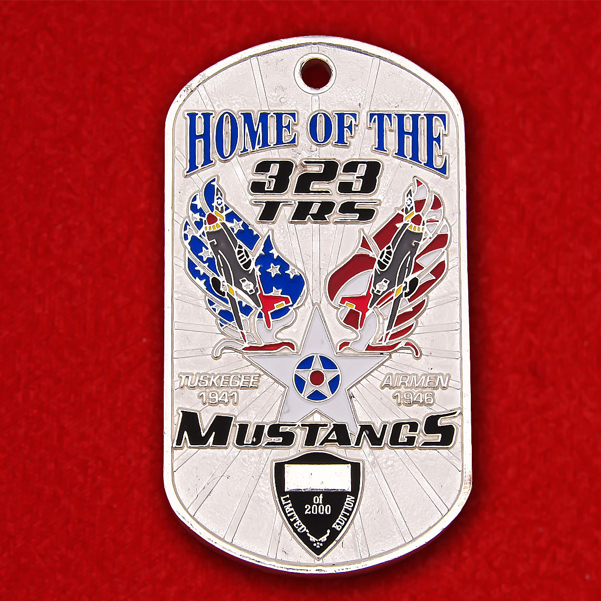 Home of the 323trs Mustangs Squadron Token