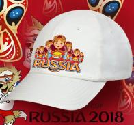 Хотите приобрести русский сувенир? Это к нам! Военпро представляет кепку Russia с принтом «Гостеприимные Матрешки» от наших лучших дизайнеров