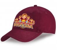 Хотите выглядеть особенно? Хлопковая вишневая кепка Russia с принтом «Приветствие матрешек» всегда подчеркнет Ваш индивидуальный образ! Торопитесь приобрести!