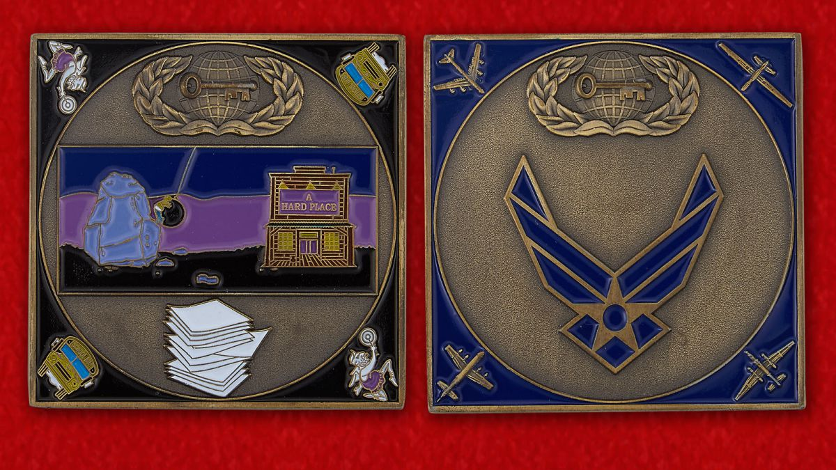 Челлендж коин ВВС США - аверс и реверс
