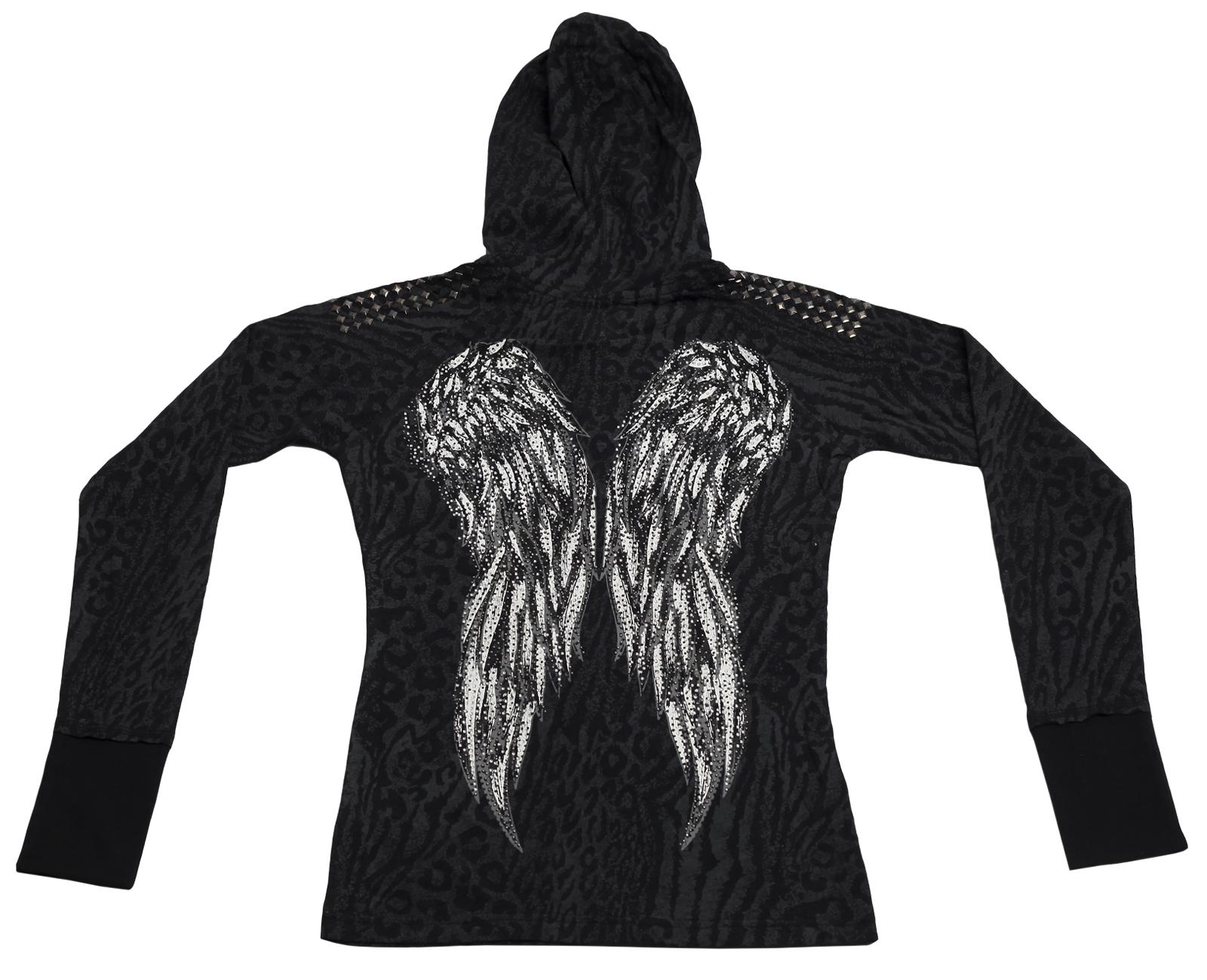 Заказать худи колоритной расцветки с крыльями ангела Rock&Roll CowGirl стильного вида по выгодной цене