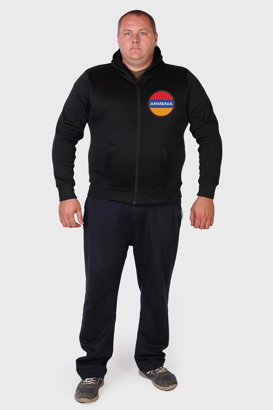 Трикотажная черная толстовка Армения – недорого с быстрой доставкой
