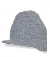 Вязанная серая кепка