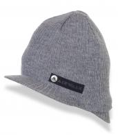 Серая вязанная шапка с логотипом Airwalk