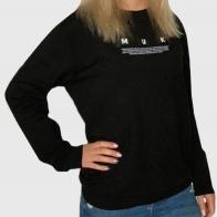 Черный женский свитер-реглан Munkstar