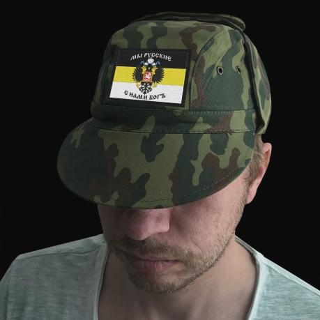 Имперская кепка-камуфляж с шевроном Мы – Русские