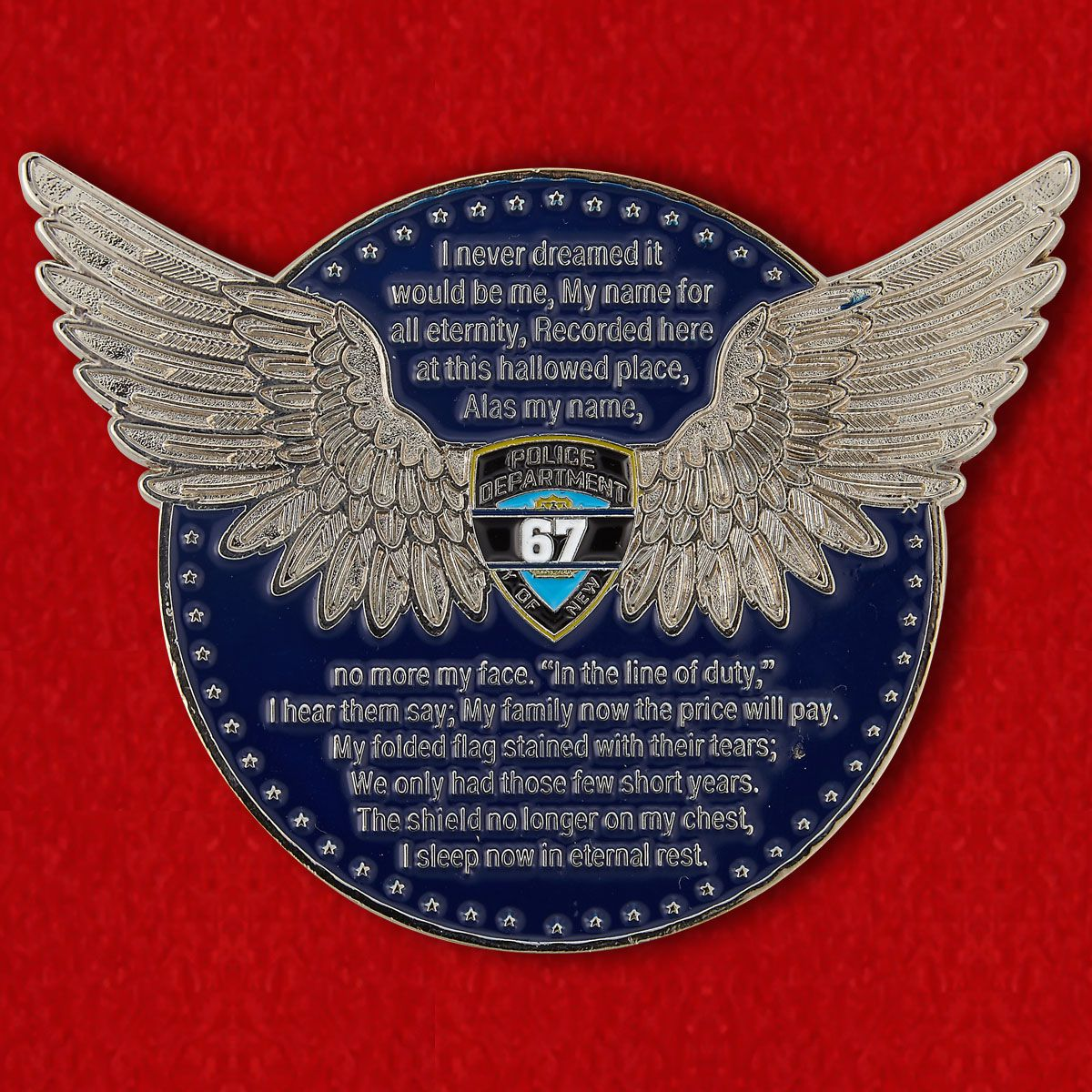 In Memory of Police Officers of the 47th Section of Police of New York City Challenge Coin