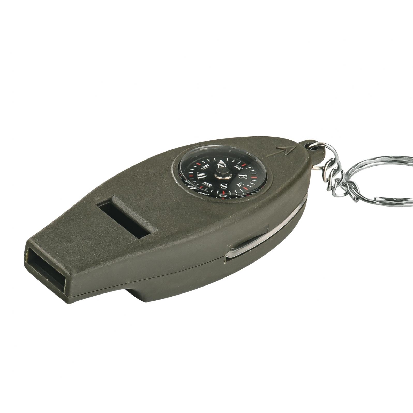 Инструмент выживальщика 4-в-1 (компас, свисток, термометр, лупа)