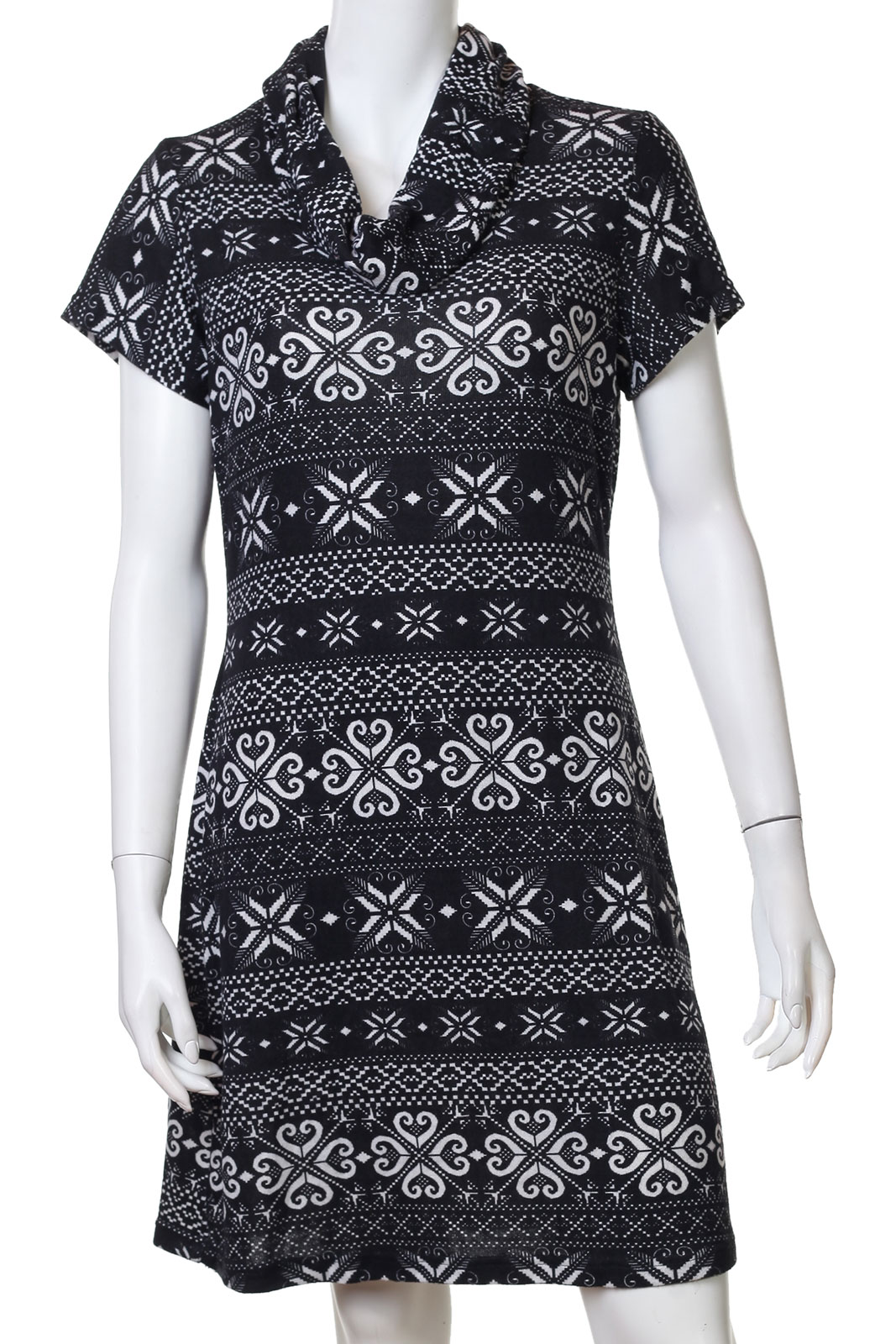 Интеллигентное платье с воротом-хомутом