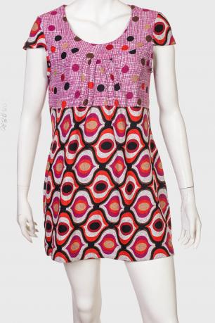 Интересное женское платье с коротким рукавом от Longbao