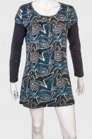 Интересное женское платье с ярким принтом