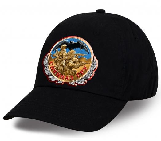 Ищете достойный подарок? Предлагаем кепку с принтом авторского дизайна знака «Спецназ ГРУ» с бойцами спецназа и летучей мышью по самой привлекательной цене