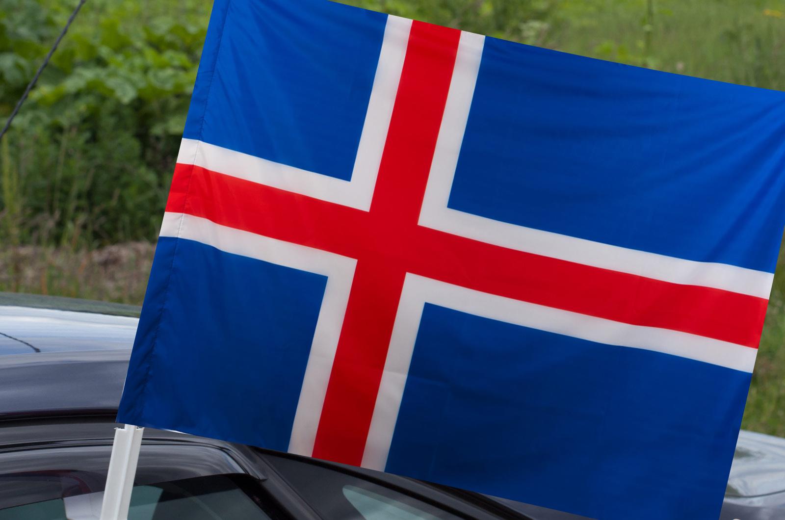 Исландский флаг на машину
