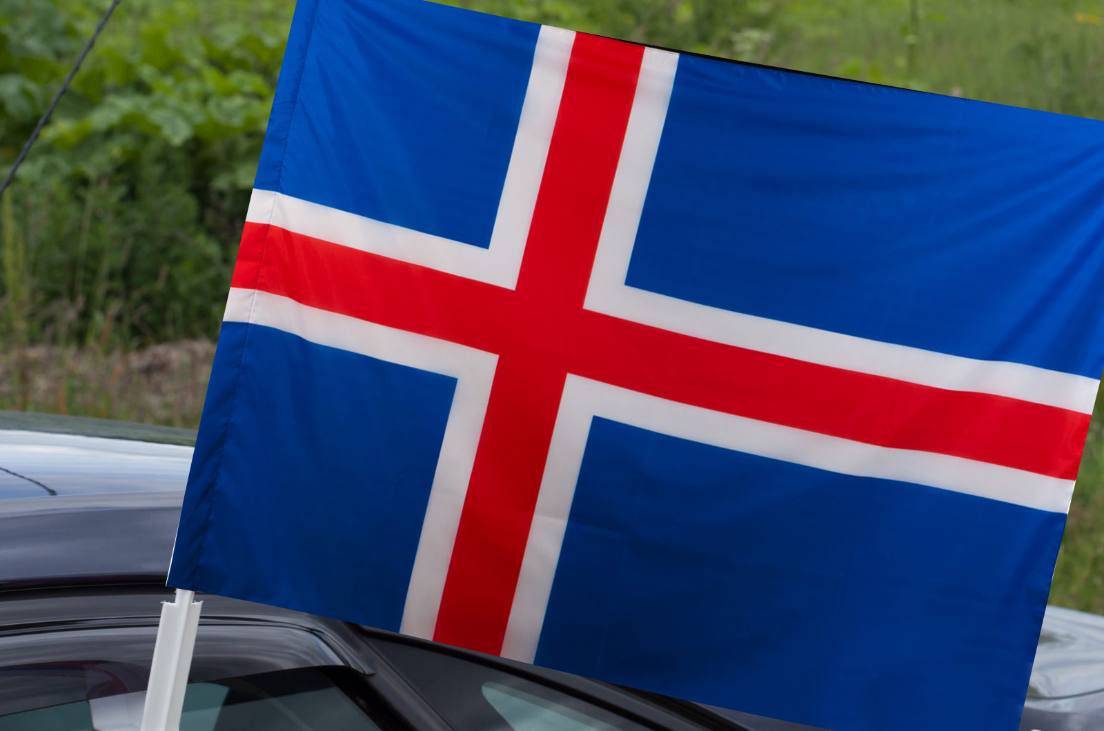 Купить Исландский флаг на машину по выгодной цене