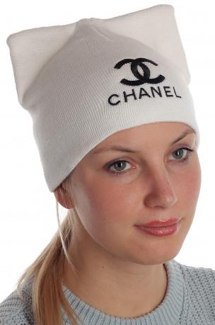 Изумительная брендовая шапка с потрясающими ушками Chanel милым девушкам