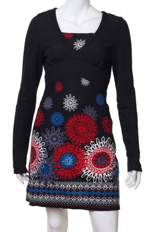 Изумительное облегающее платье с яркими цветами
