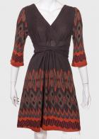 Изумительное женское платье с поясом и запахом