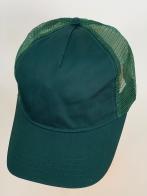 Изумрудная бейсболка с зеленой сеткой