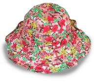 Изящная панама с цветами для модниц