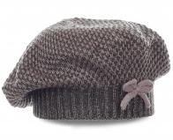 Изысканная женская шапка-беретка. Эксклюзивная модель для девушек с изюминкой