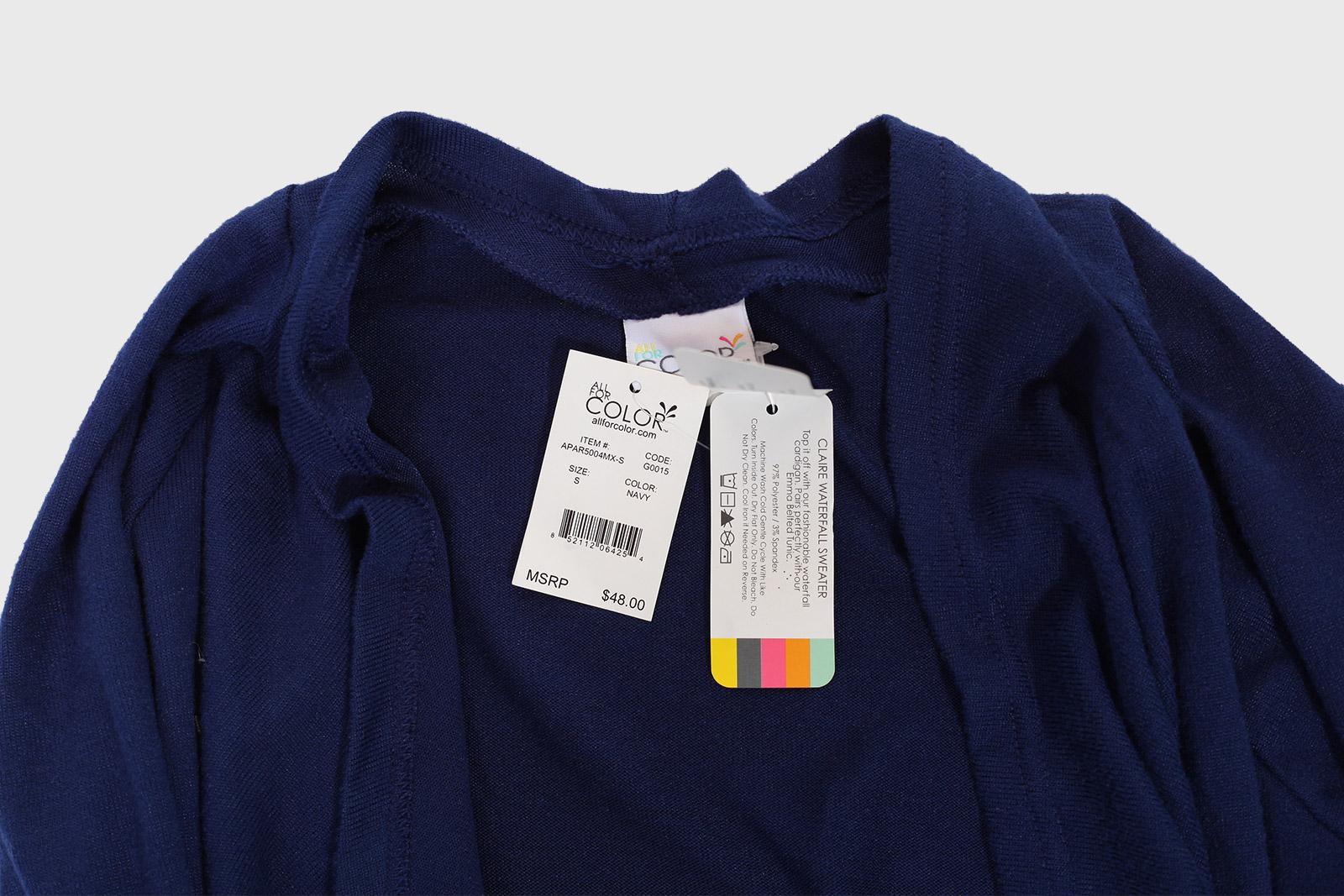 Изыскано простая кофта-туника Color.