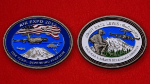Joint Base Lewis-McChord Air Expo 2012 Challenge Coin - both sides