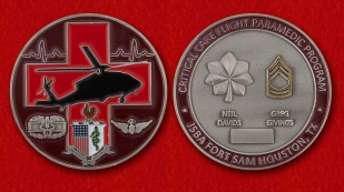 JSBA Fort Sam Houston Critical Care Flight Paramedic Program Challenge Coin