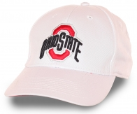 Качественная белоснежная бейсболка с модным принтом Ohio State