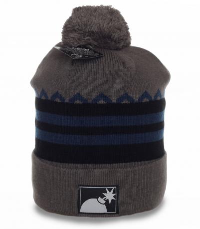 Качественная мужская шапка для спорта и активного отдыха. Пригодится и на каждый день. Надежно согреет и любую погоду