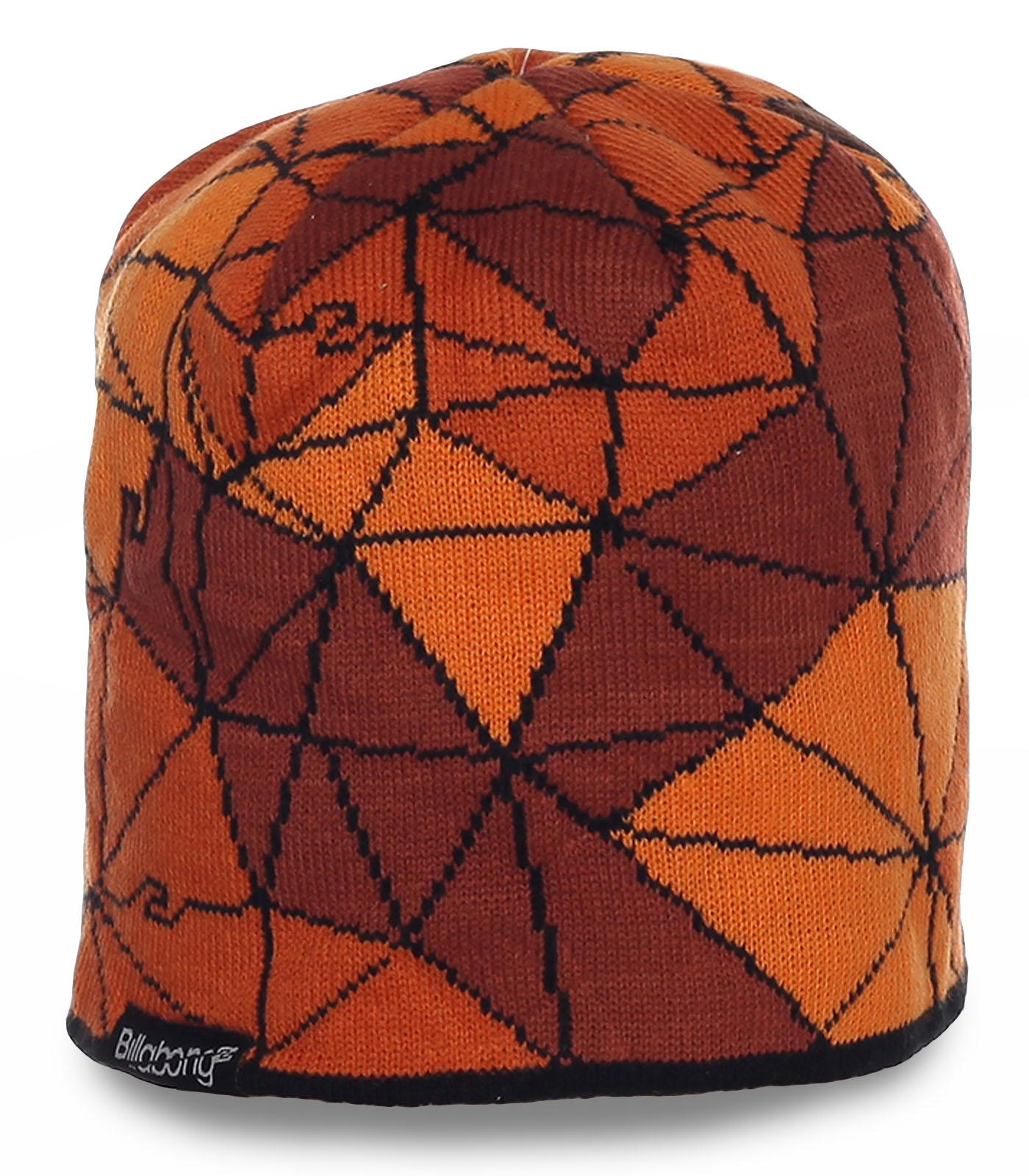 Качественная пестрой расцветки шапка бренда Billabong супер модная модель
