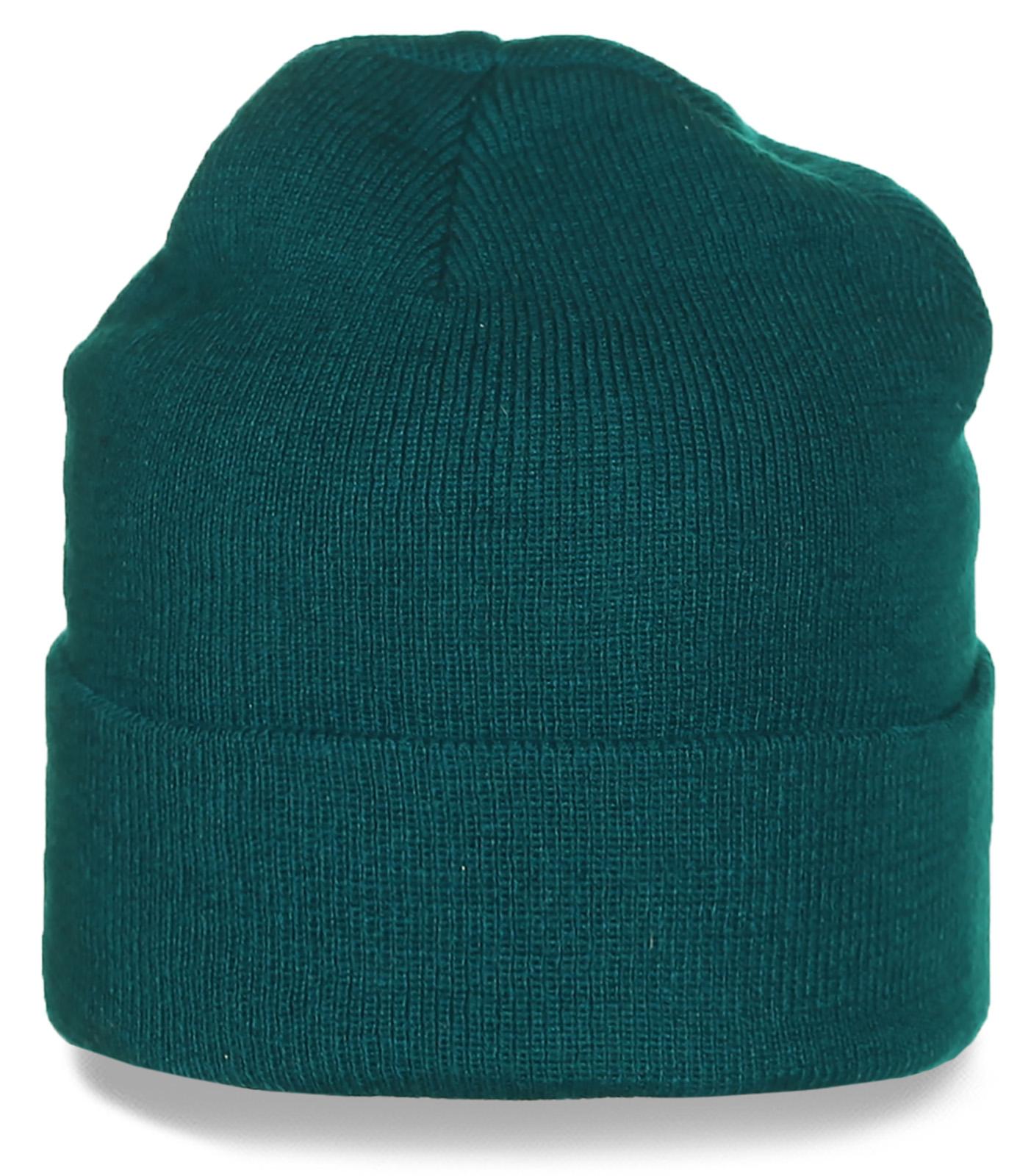 Качественная шапка с подворотом. Универсальный цвет, удобная форма