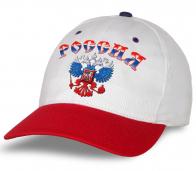 """Качество гарантируем! Бейсболка """"Россия"""" из натурального хлопка. Самая востребованная модель. Заказывай и будь в тренде!"""