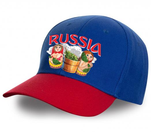 """Качество гарантируем! Достойная бейсболка с матрешками """"Russia"""" для себя или в подарок. Безупречное качество, лучшая цена"""