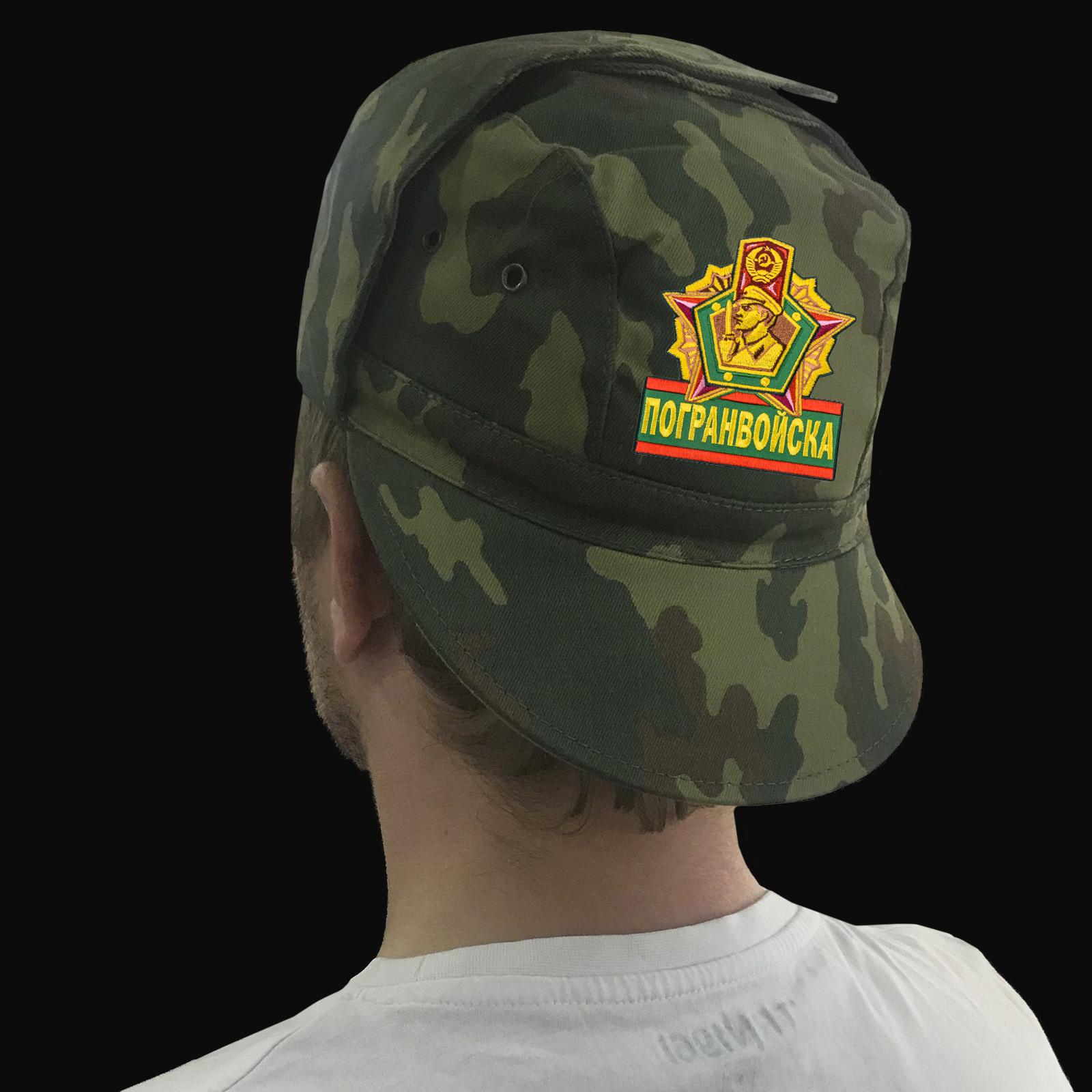 Милитари кепка с цветным шевроном «Погранвойска»
