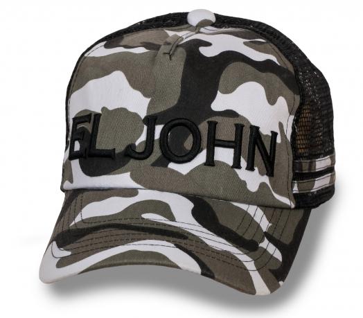 Камуфлированная бейсболка El John с сеткой