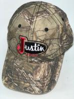 Камуфлированная бейсболка с вышивкой Justin