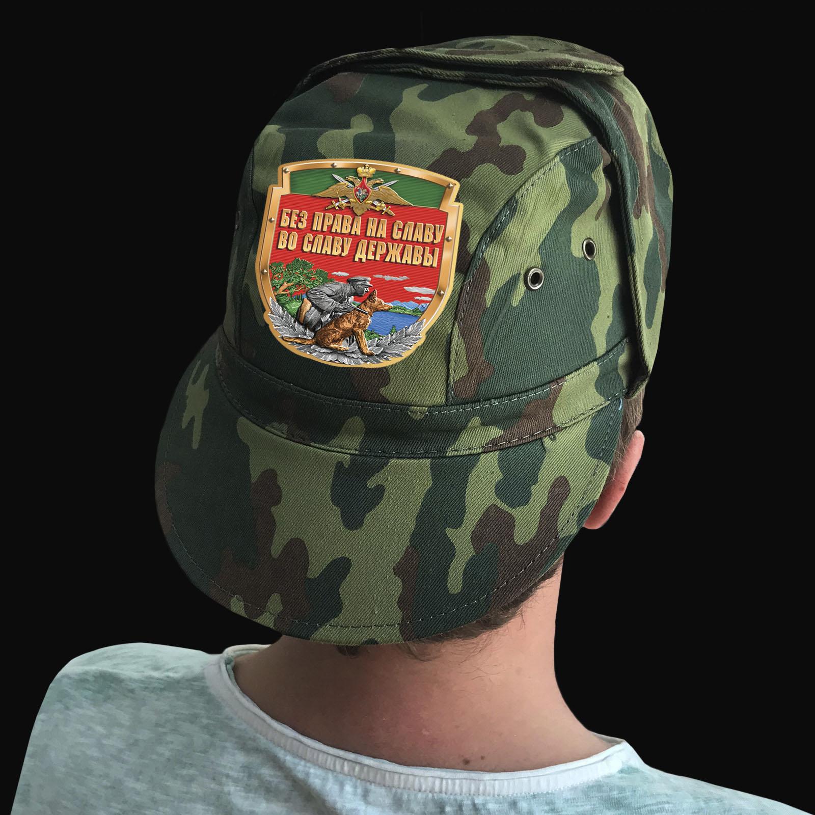 Купить камуфлированную крутую кепку с термонаклейкой Погранвойск по низкой цене