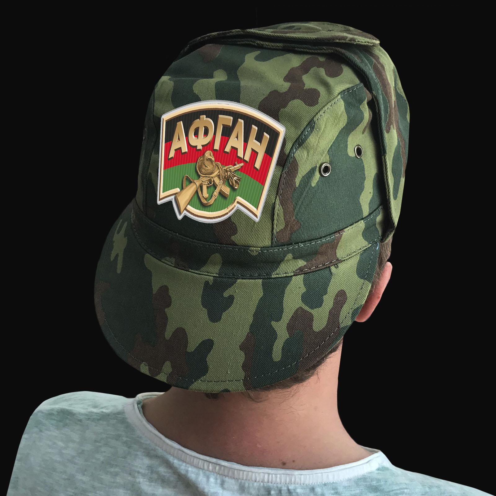 Купить камуфлированную крутую кепку с термотрансфером Афган в подарок мужчине